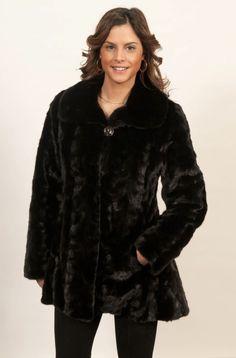 Veste de vison coloré noir  2 500$ Mink Jacket, Picture Show, Size 14, Fur Coat, Jackets For Women, Factors, Monitor, Collection, Black