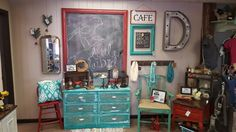 Beautiful refinished furniture available at Little Bluebird Vintage Boutique Ozark Mo