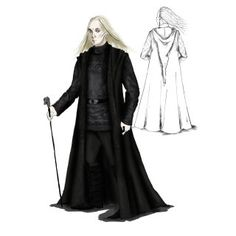 An illustration of Lucius in his robes from the Deathly Hallows Part 2.