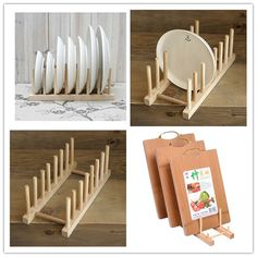 Novo 1 conjunto de cozinha utensílios de cozinha Rack de armazenamento de Rack de pratos de. Plate RacksDish RacksKitchen Storage ... & dinner plate shelf - Google Search | ideas for you | Pinterest ...