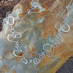 Sterling Silver Wire Wrapped Hearts