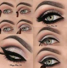 Want on We Heart It #model #makeup #eyeliner #beauty #greeneye #classy #fashion #tumblr #style