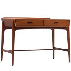 Svend Aage Madsen Teak Desk, Denmark 1950s | 1stdibs.com