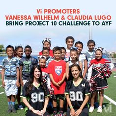 Vanessa Wilhelm & Claudia Lugo Bring PROJECT 10 Challenge to American Youth Football & Cheer | ViSalus BlogViSalus Blog