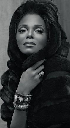 Janet - La beauté, la féminité, la force, la fragilité, le talent, la persévérance. Beautiful Black Queen.