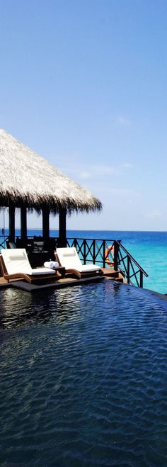 Beach House Iruveli in the Maldives, this is where I would love to go