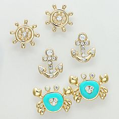 Nautical Earring Set in Turquoise