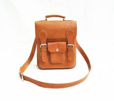 Unisex Brown Retro Bag Laptop Manual by CoruscateLeatherBag, $165.00
