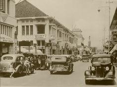 Bragaweg, Bandoeng. Eind jaren dertig.