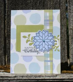 Designs by Dragonfly: Birthday Card ~ Spots and Plaid