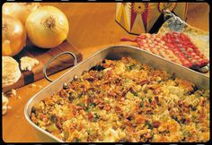 Sausage Cornbread Dressing with Apples and Pecans #Recipe