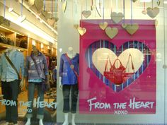 Blast from the past: Roots window dressing - Printed - Assembled - Installed Visual Display, Display Design, Store Signage, Retail Windows, Window Dressings, Roots, The Past, Printed, Store Windows