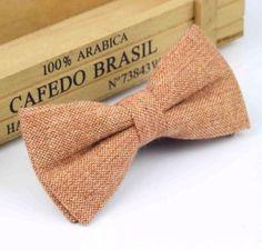 New Caramel Brown Tweed/ Wool Pre-Tied bow tie. Uk Seller. Excellent Reviews. | eBay