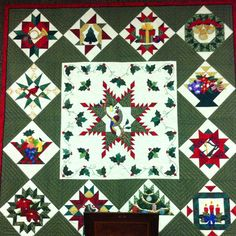 12 Days of Christmas Quilt. Beautiful