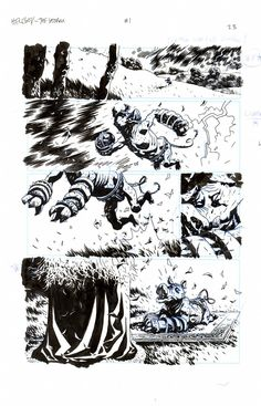 Splash Page Comic Art :: For Sale Artwork :: Hellboy The Storm by artist Duncan Fegredo