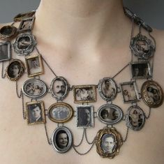family tree necklace -- very strange and interesting! Love the pattern!
