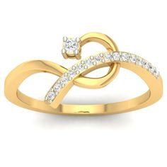 Fifteen diamonds on the stripe and a comparative larger diamond on the other end of this cuddling design of yellow gold ring speaks the volumes of art it holds.   Buy Gold Rings Online in India. Latest Designs, Certified Jewellery. Women Gold Rings. Gold, & Diamond Rings