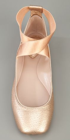 Ballerina flats...these are so pretty! And hopefully much, much more comfortable than pointe shoes.