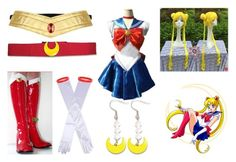 """sailor moon cosplay"" by sarahmullen-yugioh ❤ liked on Polyvore featuring Usagi, Episode, Dents and UBU"
