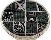 Mother of Pearl Makeup Mirror korea traditional Design Cosmetic mirror Handbag Purse handheld Compact hand pocket Mirror