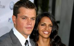 Matt Damon & Luciana Barroso This couple's small, private, city hall ceremony in December 2005 mirrored their meeting: at a bar where Luciana worked in 2003. Damon, shooting Stuck on You, wandered in for an after-filming drink and got stuck on Luciana. Last year, the couple renewed their vows in San Lucia in a sunset ceremony. Talk about Romance!  Photo credit: ImageCollect