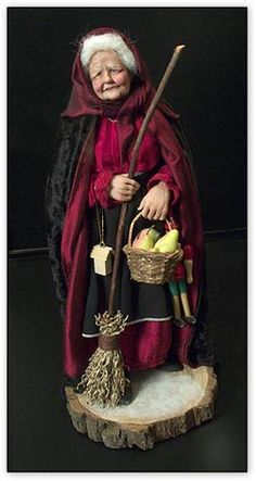 La Befana ~ is an old woman who delivers gifts to children throughout Italy on Epiphany Eve (the night of January 5)