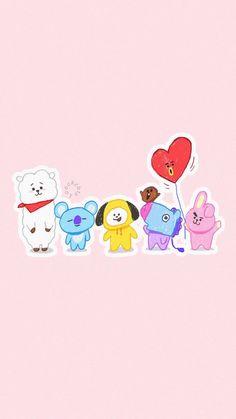 BTS wallpapers for iPhone Gfriend And Bts, K Wallpaper, Wallpaper Keren, Bts Backgrounds, Bts Drawings, Bts Chibi, Line Friends, Bts Lockscreen, Bts Wallpaper Iphone Taehyung