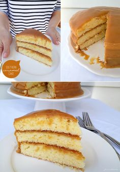 Another Caramel Cake recipe.  This one uses regular milk & cake flour instead of buttermilk and self-rising flour.
