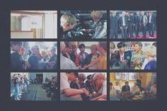 Behind the scenes Bts Laptop Wallpaper, Bts Wallpaper Desktop, Macbook Wallpaper, Wallpaper Quotes, Bts Jungkook And V, Jimin, Hoseok Bts, Bts Lockscreen, Bts Polaroid