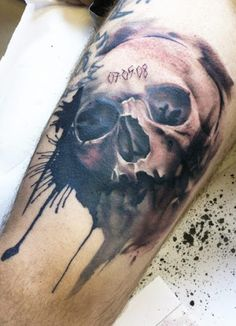 Realism Skull Tattoo by Lianne Moule