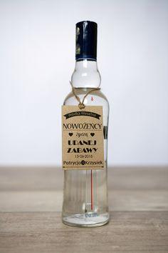 EKO zawieszki na alkohol weselny w krawatki na DaWanda.com
