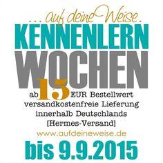 +++ NEWS +++ TICKER +++ KENNENLERNWOCHEN +++ www.aufdeineweise.de Alphabet, Alpha Bet
