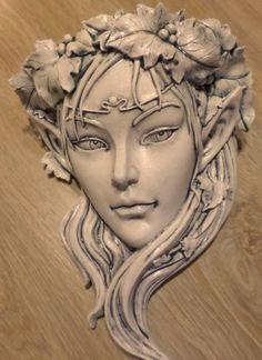Garden Ornaments - New ideas Ceramic Sculpture Figurative, Sculpture Clay, Sculptures, Statue Ange, Ceramic Mask, Clay Faces, Masks Art, Kintsugi, Garden Ornaments
