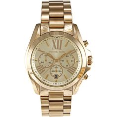 Michael Kors Women's MK5605 Bradshaw Goldtone Chronograph Watch
