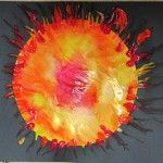 sun crafts-could do with coffee filters or use water paints and blow the paint with a straw- outer space