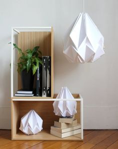 xxl origami lamp oversized pendant light perfect for your dining room or great volumes. Black Bedroom Furniture Sets. Home Design Ideas