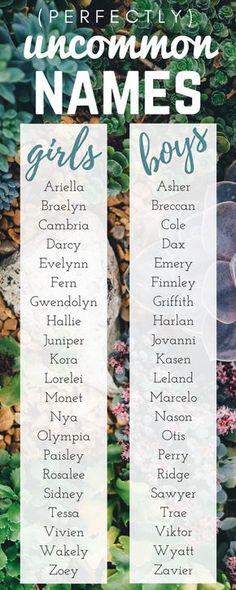 Unique babies' names