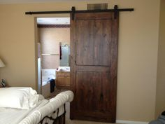 Knotty alder reclaimed barn wood door