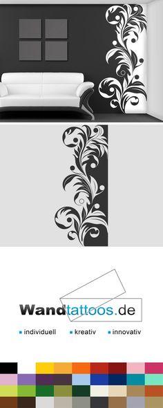 Wandbanner florales Ornament als Idee zur individuellen Wandgestaltung. Einfach Lieblingsfarbe und Größe auswählen. Weitere kreative Anregungen von Wandtattoos.de hier entdecken!