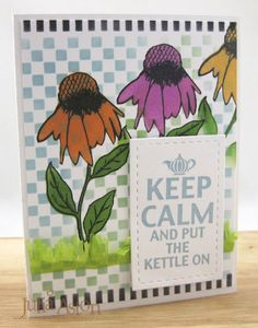Create With Me: Coffee Lovers Blog Hop - Keep Calm and Put the Kettle On