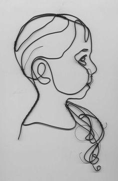 Wire portraits -- Fund-raiser   Templeton Sculpture Blog