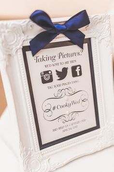 Social media wedding hashtag facebook, twitter instagram tag for wedding. Photo by www.samandlouise.co.uk