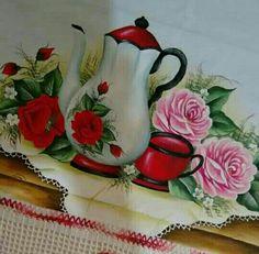 Bom dia ! Diy Plastic Bottle, Mug Cozy, Kitchen Paint, Crochet, Diy And Crafts, Drawings, Pictures, Painting, Tea Sets