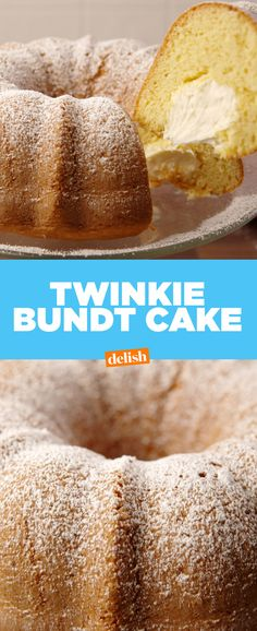 Why settle for a Twinkie when you can make a TWINKIE BUNDT CAKE?! Get the recipe from Delish.com.