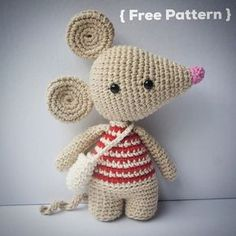 Pérez, the tooth mouse - Free Crochet Pattern by {Amour Fou}