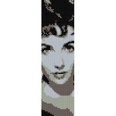 ELIZABETH+TAYLOR++-+LOOM+beading+pattern+for+cuff+bracelet++SALE