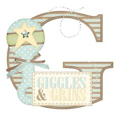 G Welcome Home Baby (Crazy For Monograms) Alphabet Style, Alphabet And Numbers, Alphabet Soup, Alphabet Letters, Project Life Baby, Welcome Home Baby, Scrapbook Borders, Creative Lettering, Baby Cards