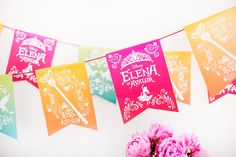 No royal premiere party is complete without Elena of Avalor decorative banners! Print and assemble these festive banners for a fun activity with the kids!