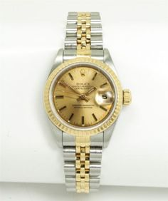 Ladies-Rolex-69173-18K-Gold-Stainless-Steel-Champagne-Dial-Wristwatch