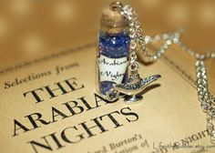 Arabian Nights Necklace, Aladdin, Mystical Power, Genie of the Lamp Charm, Disney by Life is the Bubbles on Etsy, $16.00